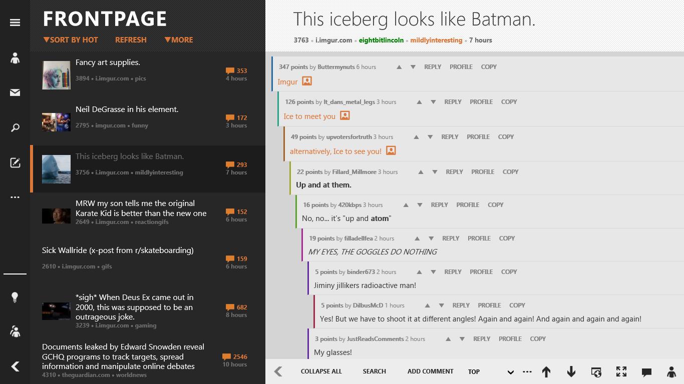 Reddhub | The premier Reddit app for Windows and Windows Phone